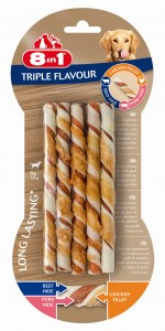 8in1 Triple Flavour Twisted Sticks 10 szt.